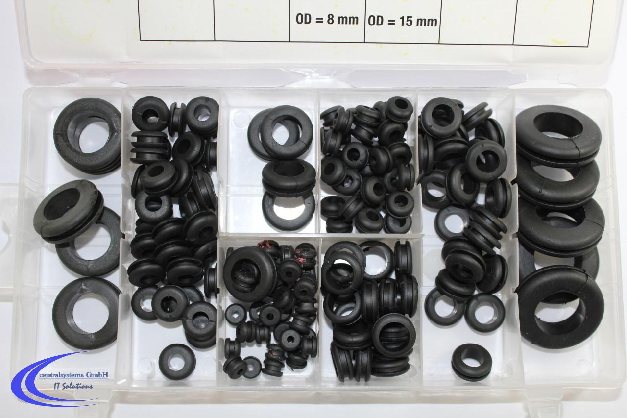 bgs 180 teiliges sortiment gummi durchgangs t llen kabelt lle kabel dichtung ebay. Black Bedroom Furniture Sets. Home Design Ideas