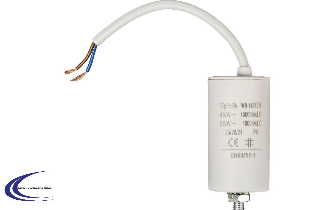 450V  mit Kabel Anlaufkondensator Kondensator  12 µF