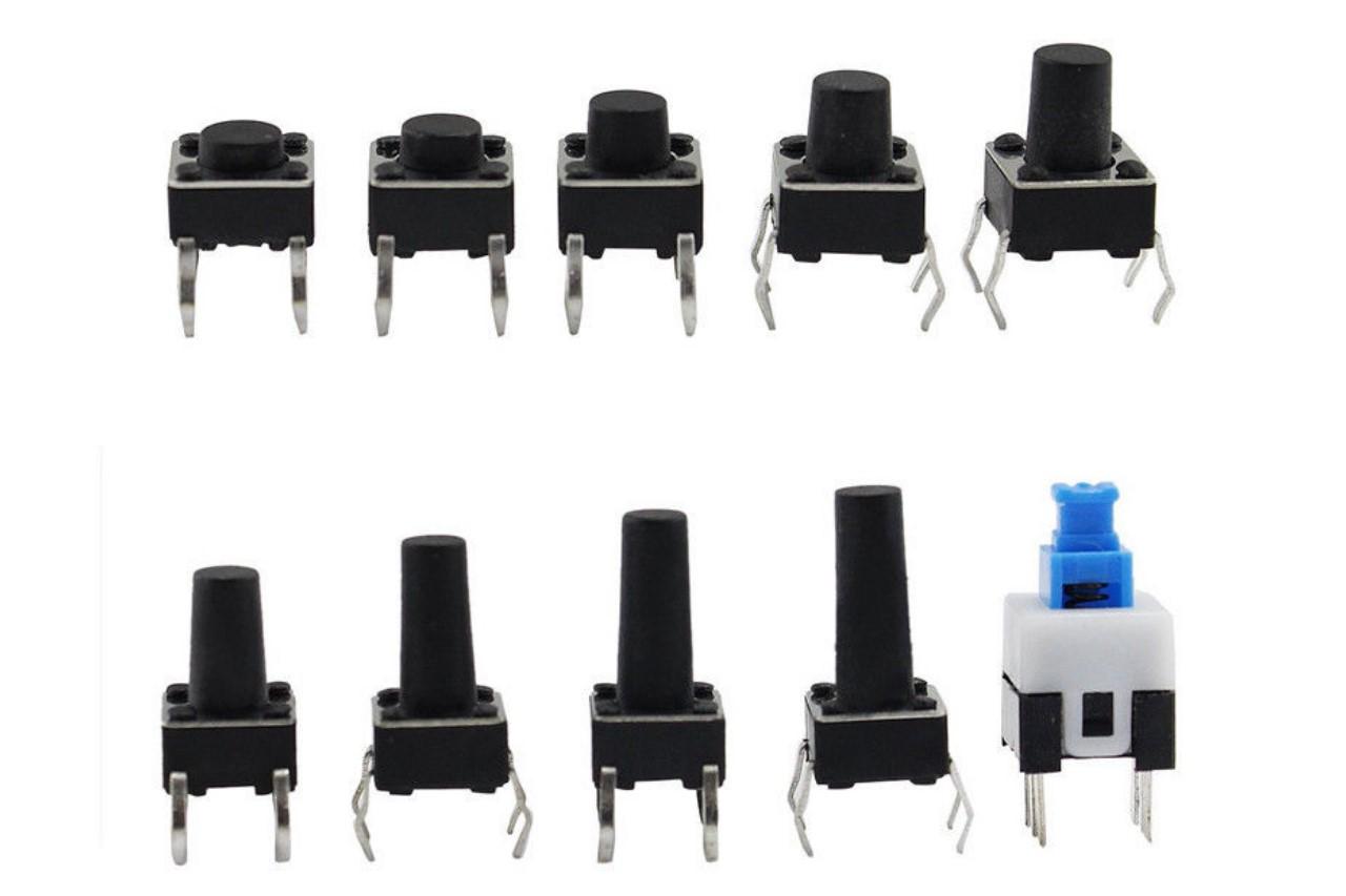 Printtaster Sortiment 180 Stück mit Box Mikrotaster Mini Schalter